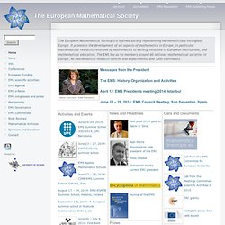 EMS Homepage | The European Mathematical Society
