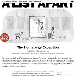The Homepage Exception