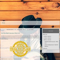 Your page4 homepage - Blog: Gold Plan Health Insurance—What Is It?