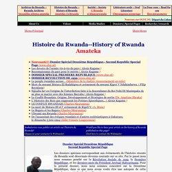 Homepage History of Rwanda