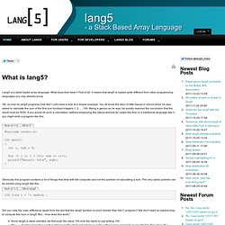 lang5 - a Stack Based Array Language