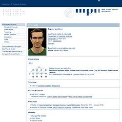 Homepage: Evgeny Levinkov (Max-Planck-Institut für Informatik)