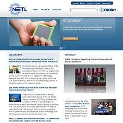 DOE - National Energy Technology Laboratory: Home Page
