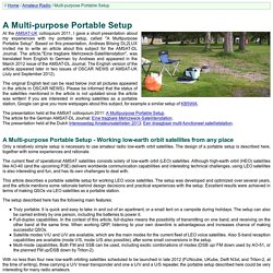 Homepage of PA1IVO - A Multi-purpose Portable Setup