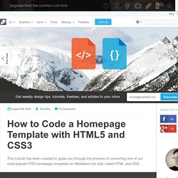 How to Code a Homepage Template with HTML5 and CSS3