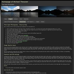 Homepage of Michael Theusner - Time-lapse Photography - Step-by-Step