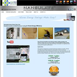 Nansulate-Paint on Insulation