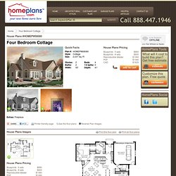 Home Plans HOMEPW08080 - 2,037 Square Feet, 4 Bedroom 2 Bathroom Cottage Home with 2 Garage Bays