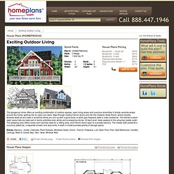 Home Plans HOMEPW25442 - 1,904 Square Feet, 2 Bedroom 2 Bathroom Cottage Home with