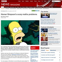 Homer Simpson's scary maths problems