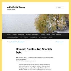 Homeric Similes And Spanish Debt