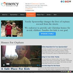 Homes For Orphans - Mercy Projects