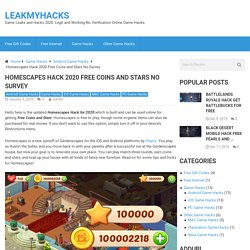 Homescapes Hack 2020 Free Coins and Stars No Survey