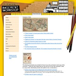 Homeschool Geography & Maps Activities and Games Free Downloads