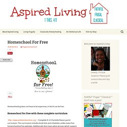 Homeschool For Free - Aspired Living