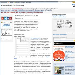 Homeschool Goals Forms