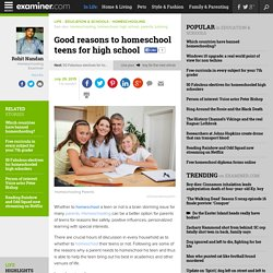 Good reasons to homeschool teens for high school - National Homeschooling