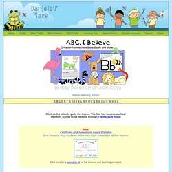 ABC, I Believe Christian Homeschool Curriculum-Bible Study for Kids and home school