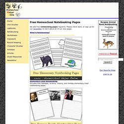 Free Homeschool Notebooking pages - Homeschool Helper