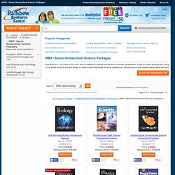 HMH / Saxon Homeschool Science Packages - Product Browse - Rainbow Resource Center, Inc.