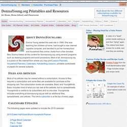 Donna Young's Homeschooling Resources and Printables