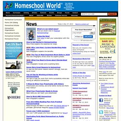 "Homeschool World: ""The World's Most Visited Homeschool Site"""