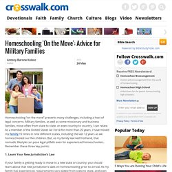 Homeschooling 'On the Move': Advice for Military Families - Antony Barone Kolenc - Christian Homeschooling, Home Education