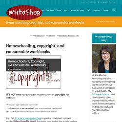 Homeschooling, copyright, and consumable workbooks - WriteShop