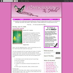 Homeschooling in Heels: Human Body Lapbook