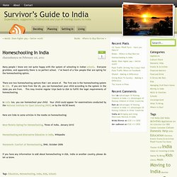 Homeschooling in India | Survivor's Guide to India