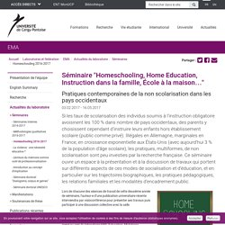 Homeschooling 2016-2017 - Université de Cergy-Pontoise