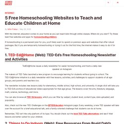 5 Free Homeschooling Websites to Teach and Educate Children at Home