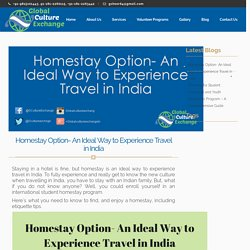 Travel Economically with Homestay
