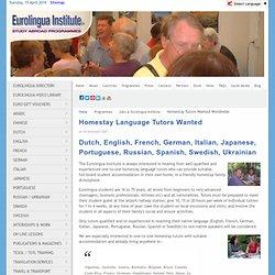 Homestay Language Tutors Wanted