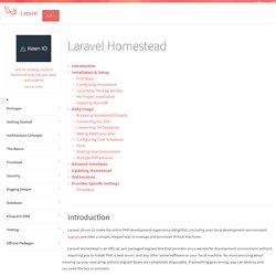 Laravel Homestead - Laravel - The PHP Framework For Web Artisans