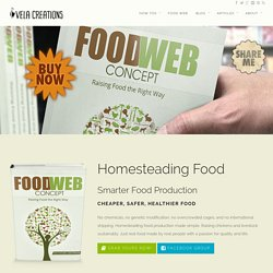Homesteading Food Web. Raising chickens sustainably