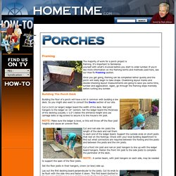 HOMETIME HOW TO Porches - Framing