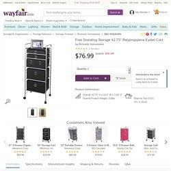 """Richards Homewares Free Standing Storage 42.75"""" Polypropylene Eyelet Cart"""
