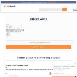 Online System Analysis Design Assignment Help