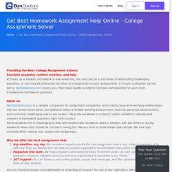 College Assignment Solver