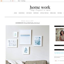 homework: a creative blog: HOMEROOM: Minted Wall Gallery {the blues}