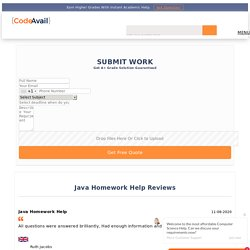 Get Java Homework Help Online By Our Top Experienced Experts