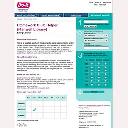 Homework Club Helper (Hanwell Library) - Do-it