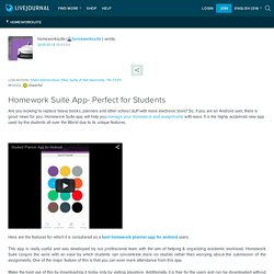 Homework Suite App- Perfect for Students: homeworksuite