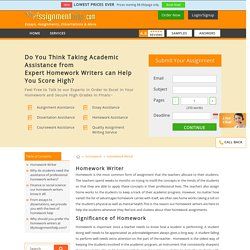 Homework Paper Writers Online