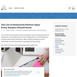 The List of Homework Planner Apps Every Student Should Know