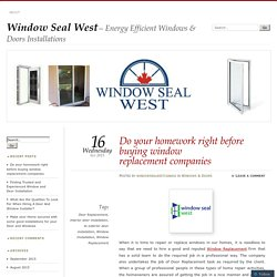 Windows-west.ca is one of the door companies Calgary