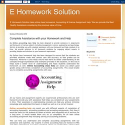 E Homework Solution: Complete Assistance with your Homework and Help