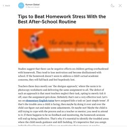 Tips to Beat Homework Stress With the Best After-School Routine