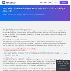 Online Homework Help Websites